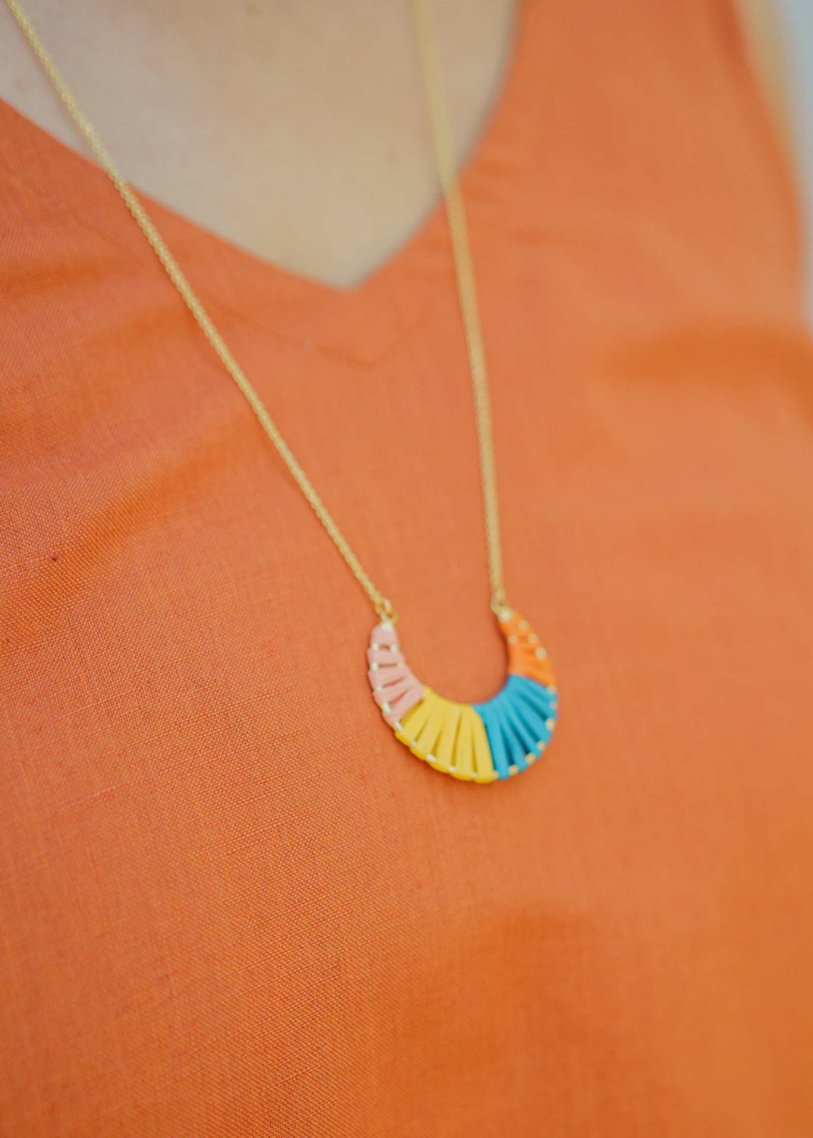 Tara Projects Cheery Crescent Necklace