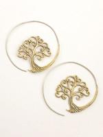 dZi Full Moon Tree Earrings