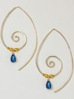 dZi Spiral Path Earrings
