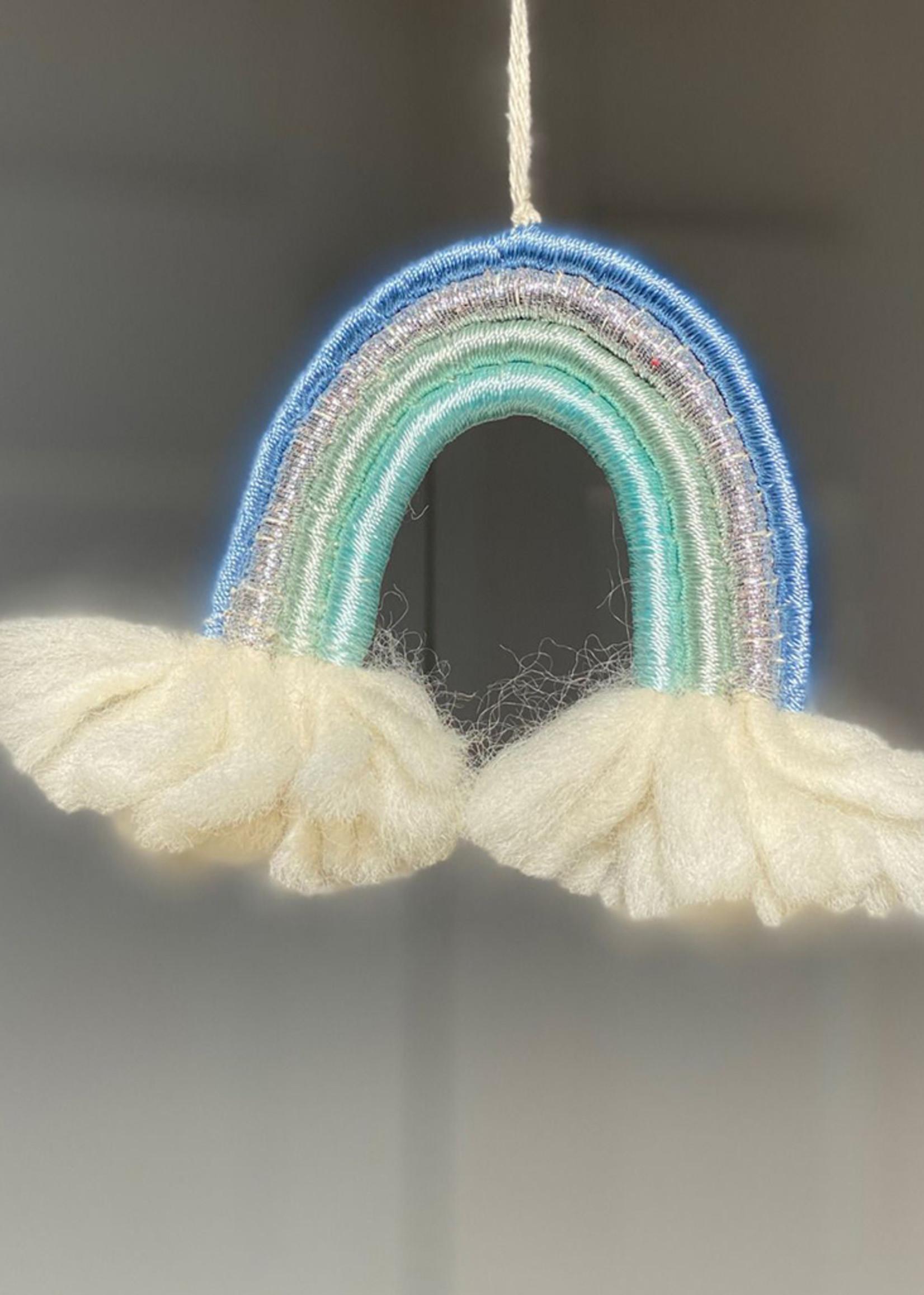 dZi Blue Rainbow Ornament