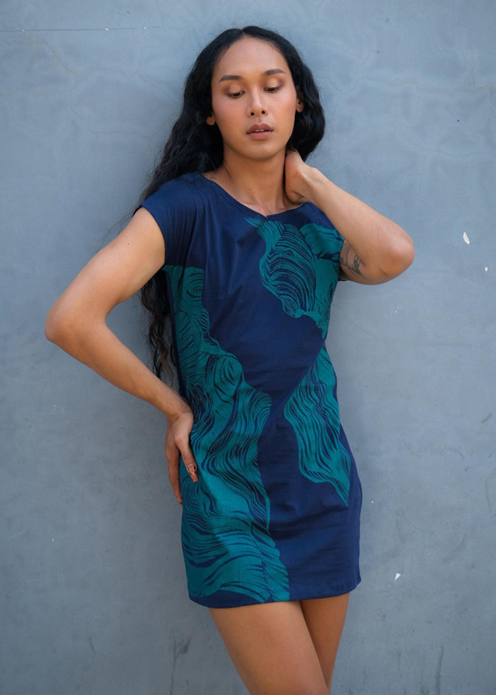 Tonle Navy Canyon T-Shirt Dress