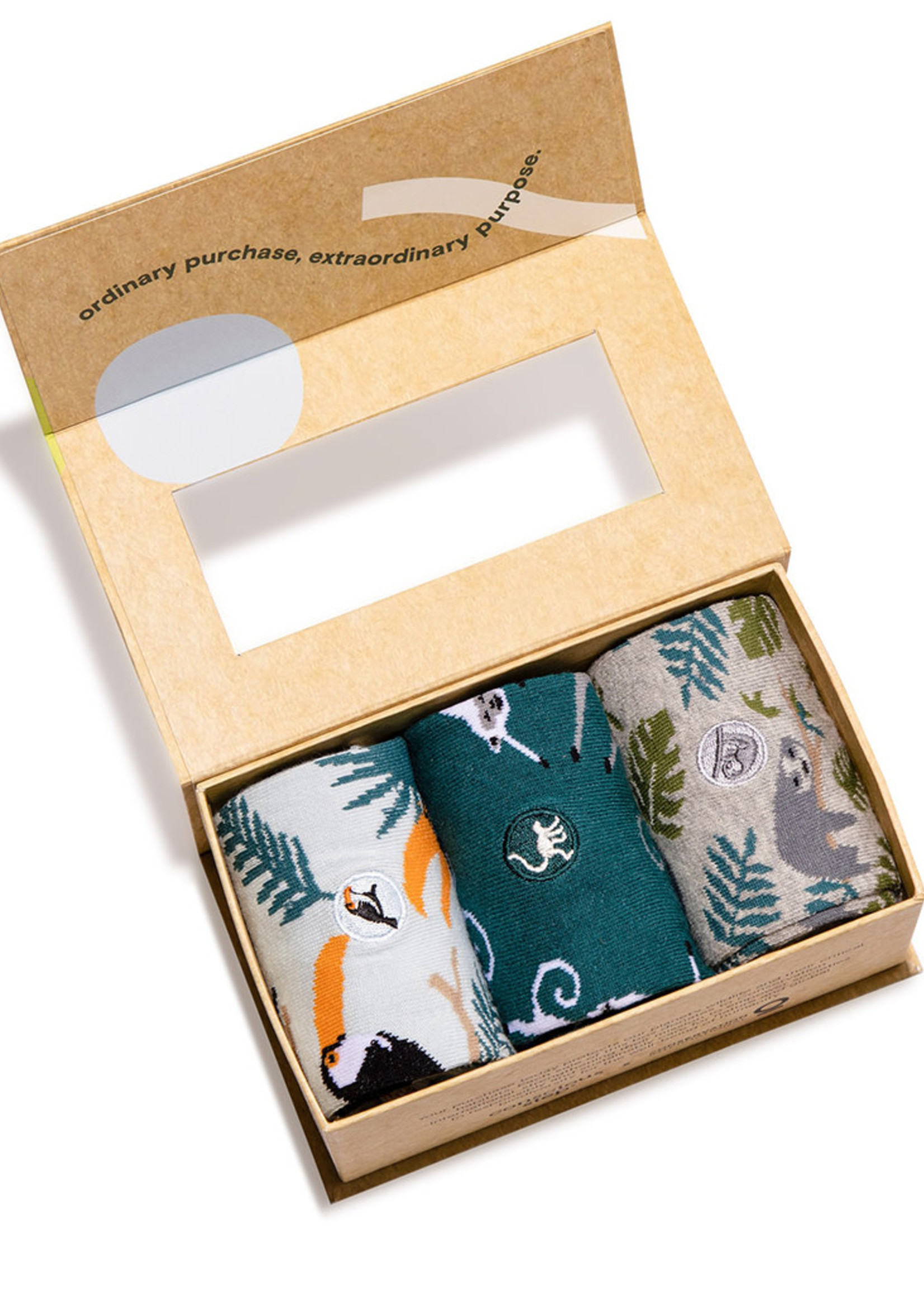 Conscious Step Women's Box of Socks That Protects Rainforest Animals