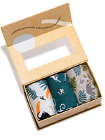 Conscious Step Men's Box of Socks That Protects Rainforest Animals
