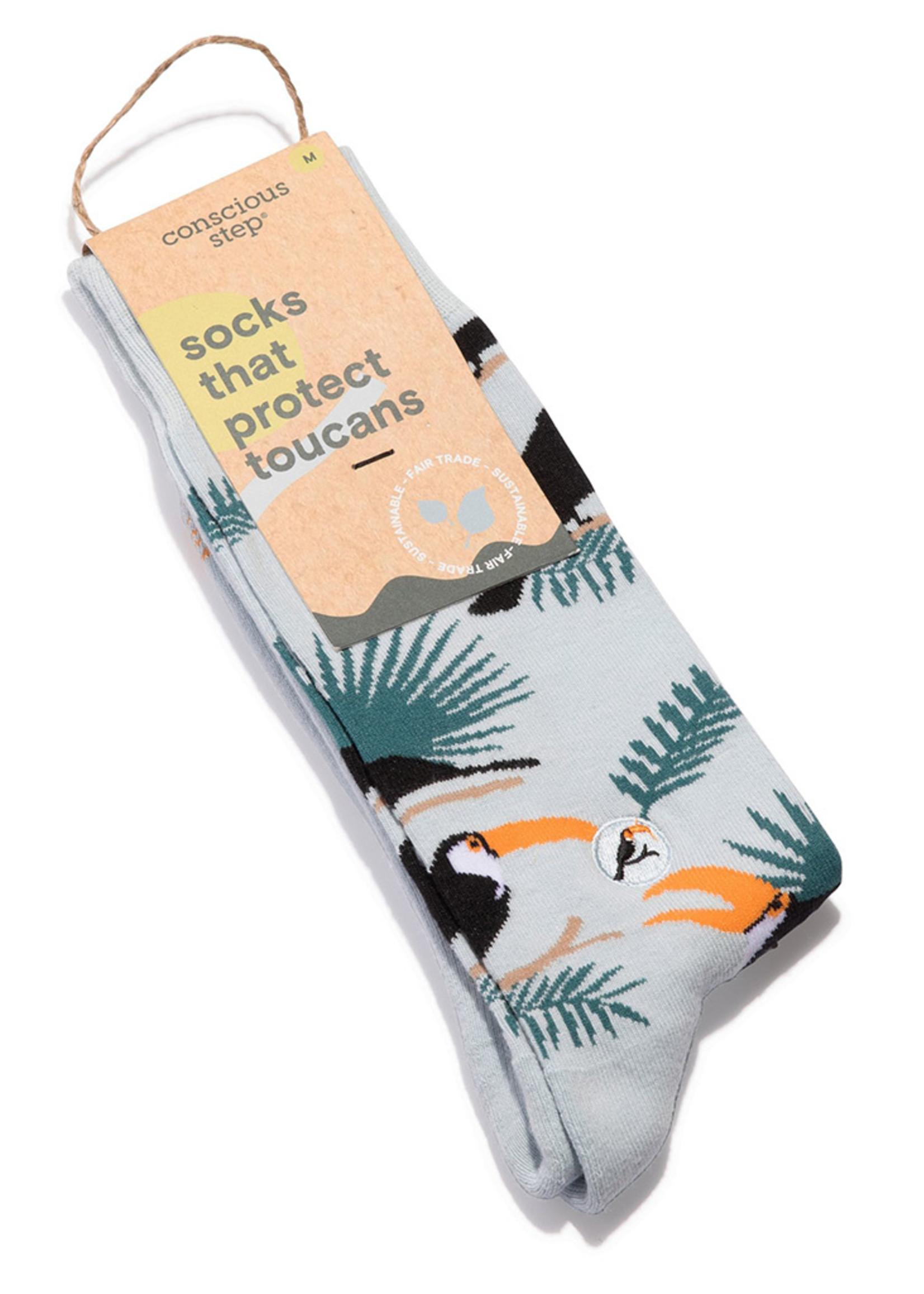 Conscious Step Men's Socks that Protect Toucans