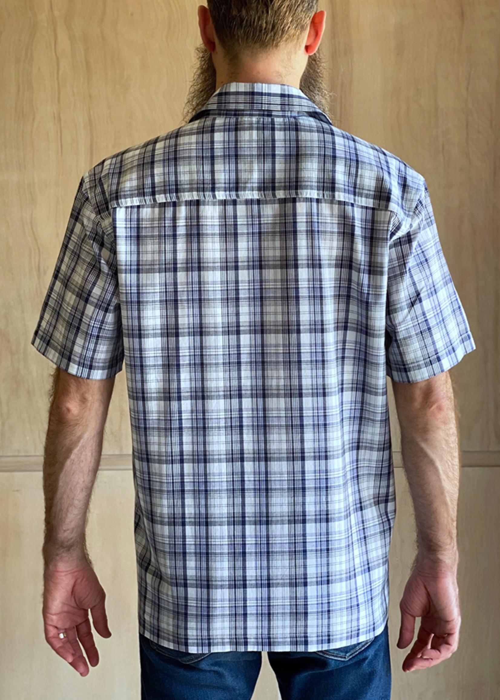 Slim Fit White Multi Plaid Shirt