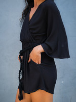Tonle Vanna Black Crepe Romper