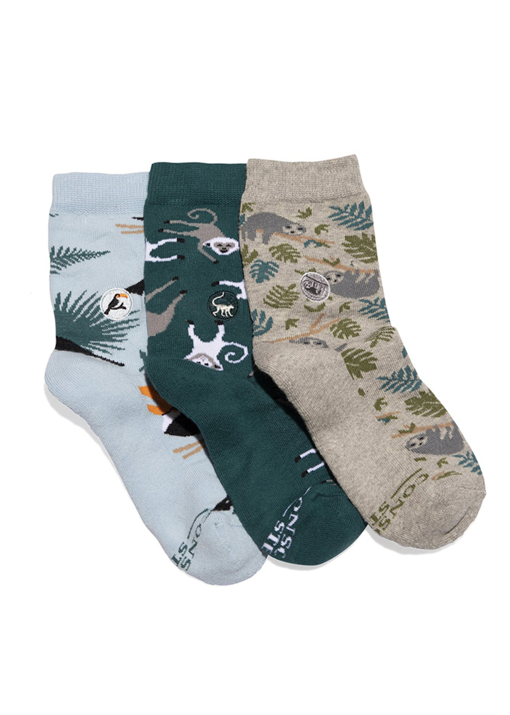 Conscious Step Kid's Sock Box Protect Rainforests 7-10Y