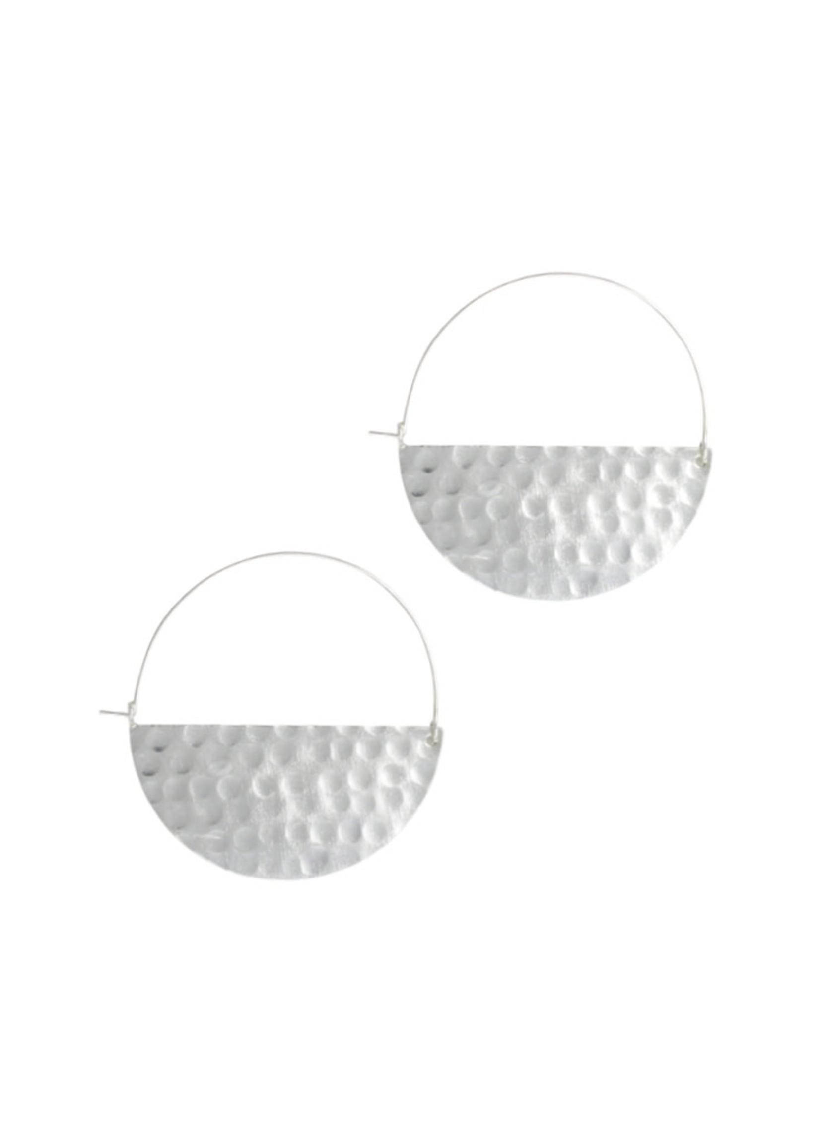 Half Moon Silver Earrings