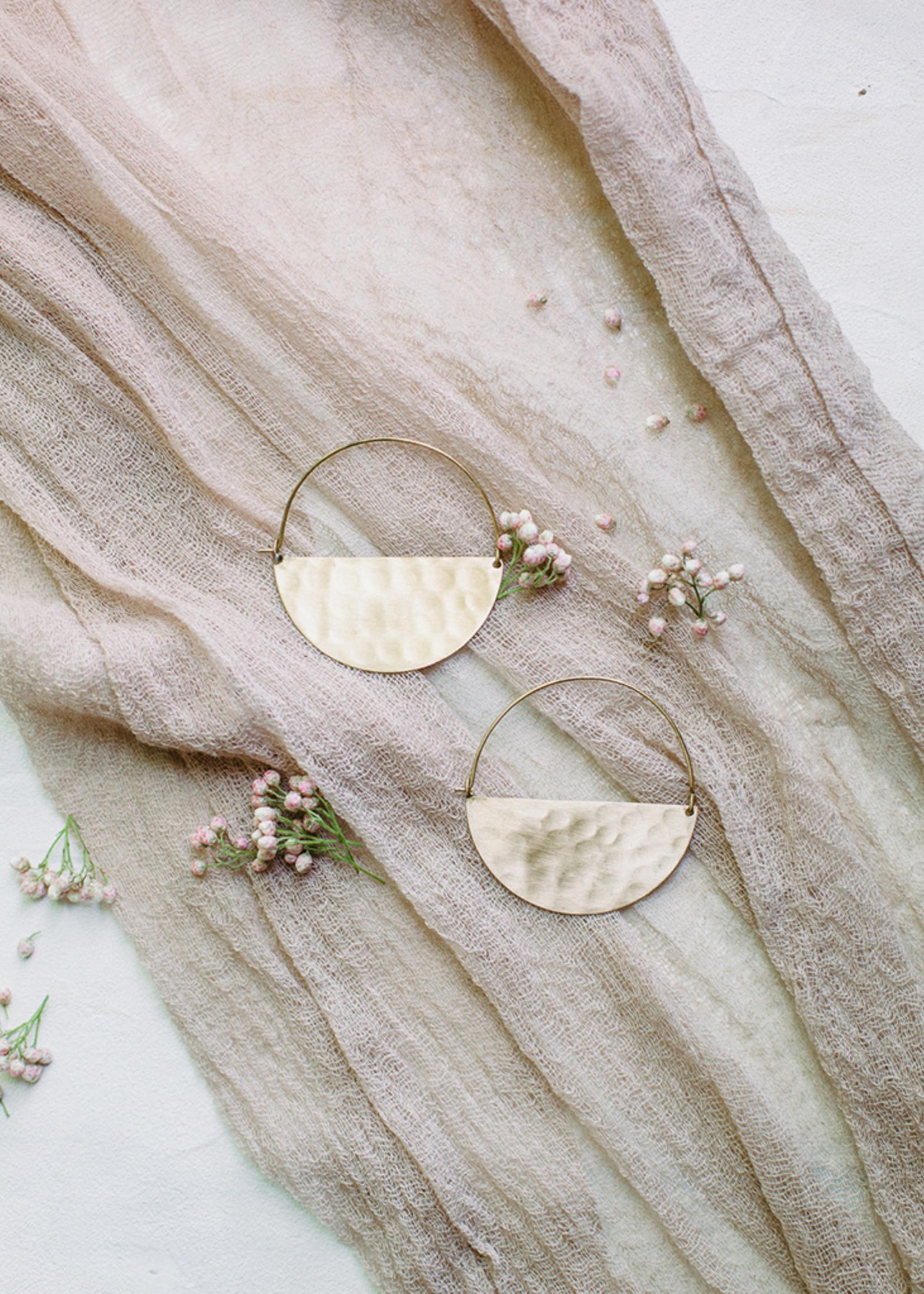 Half Moon Gold Earrings