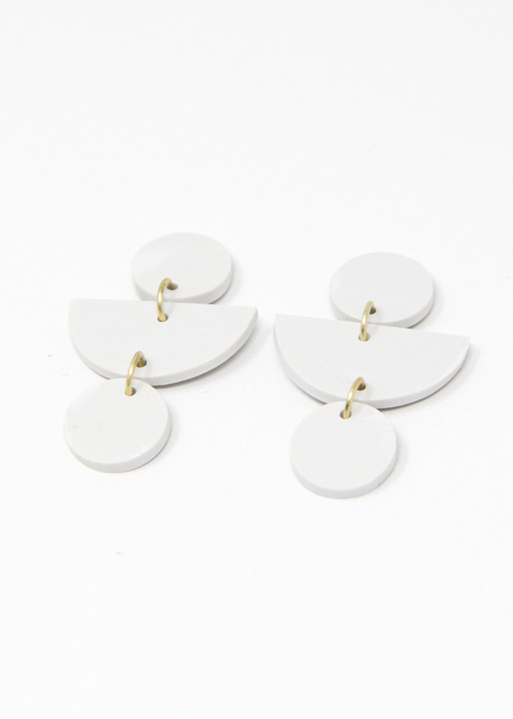 Geo Clay Earrings