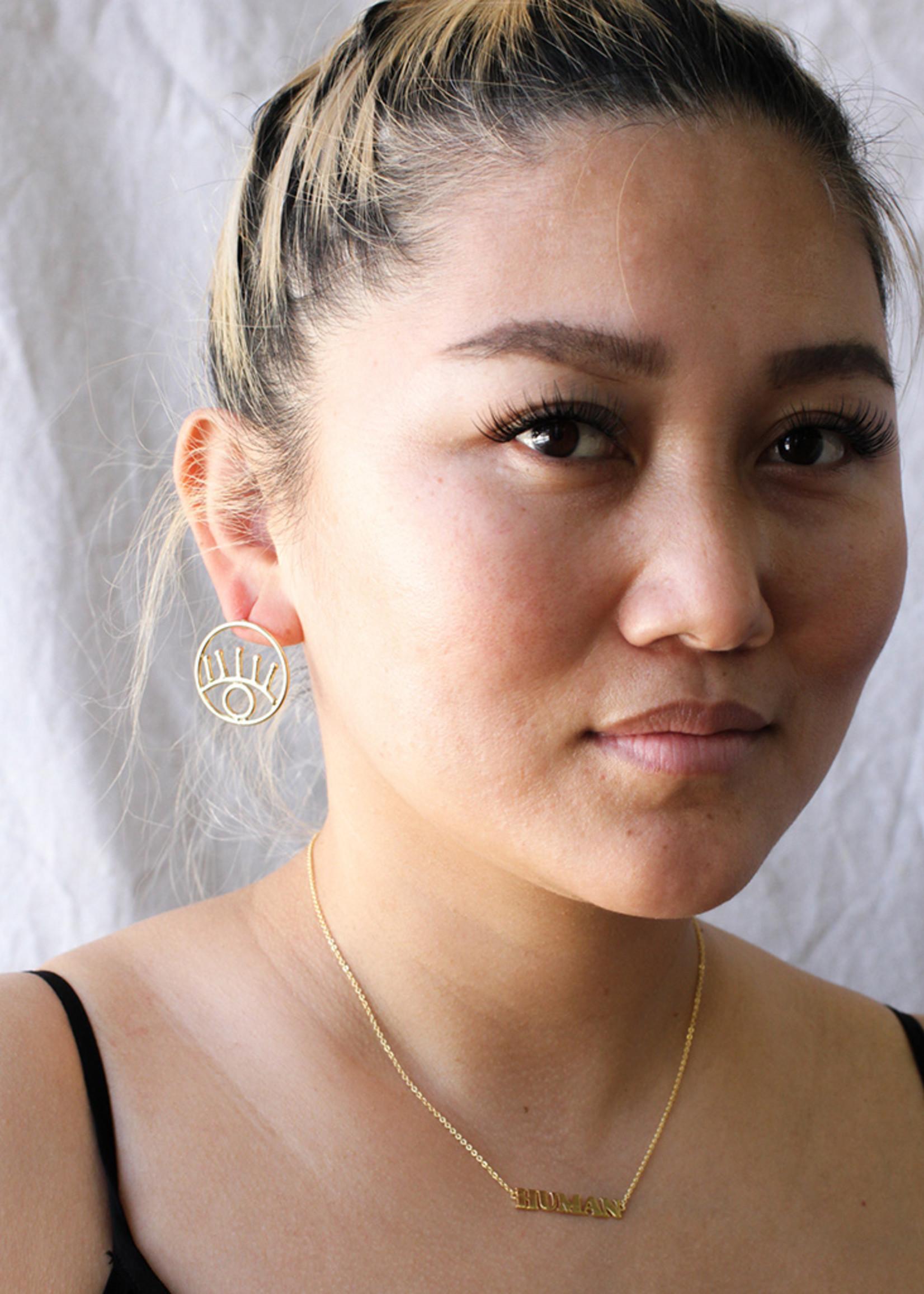 Eye Outline Earrings