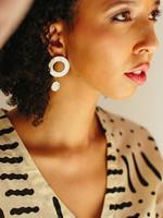 Double Reverse Circles Earrings