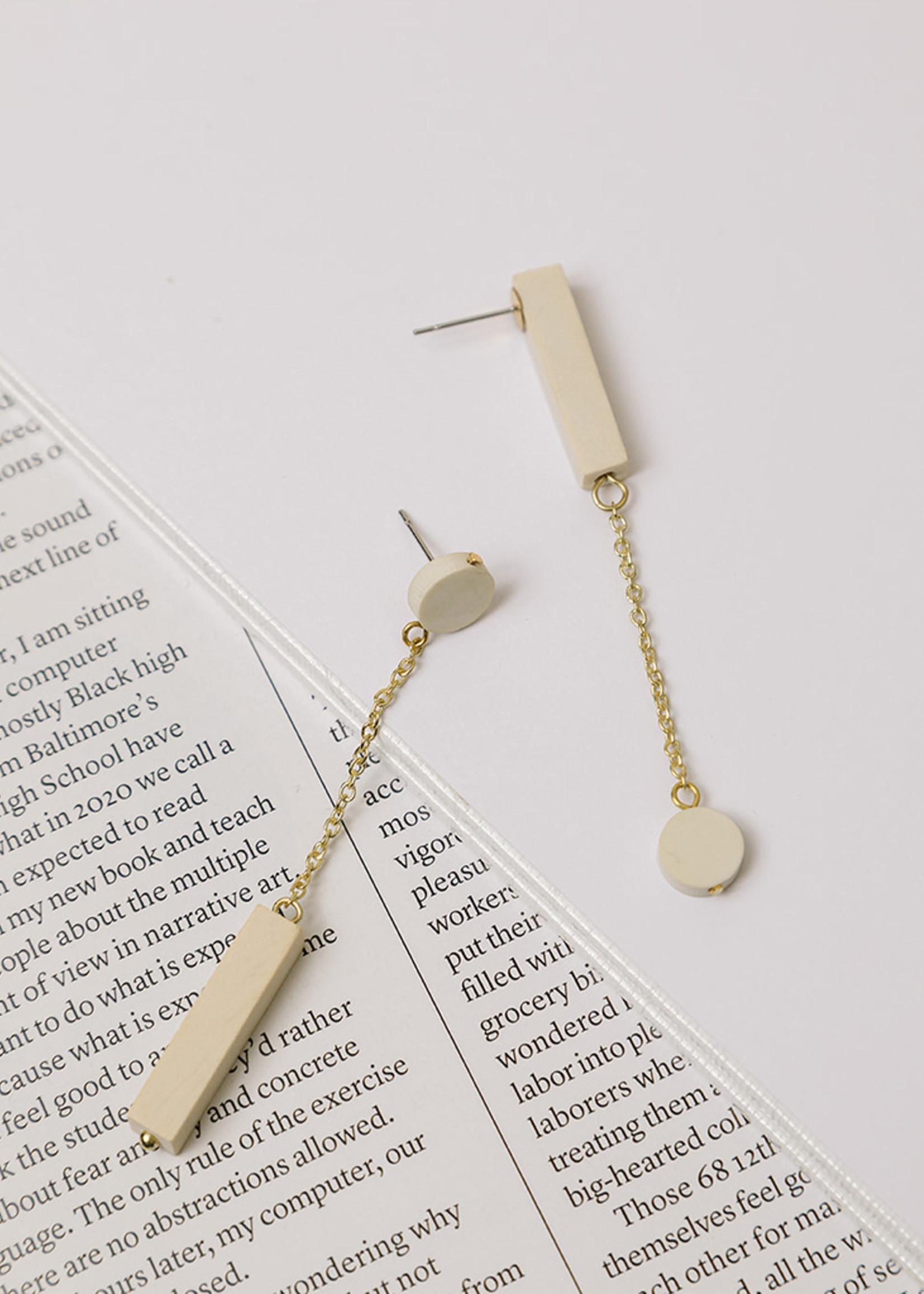 Reverse Clayworks Bone Earrings