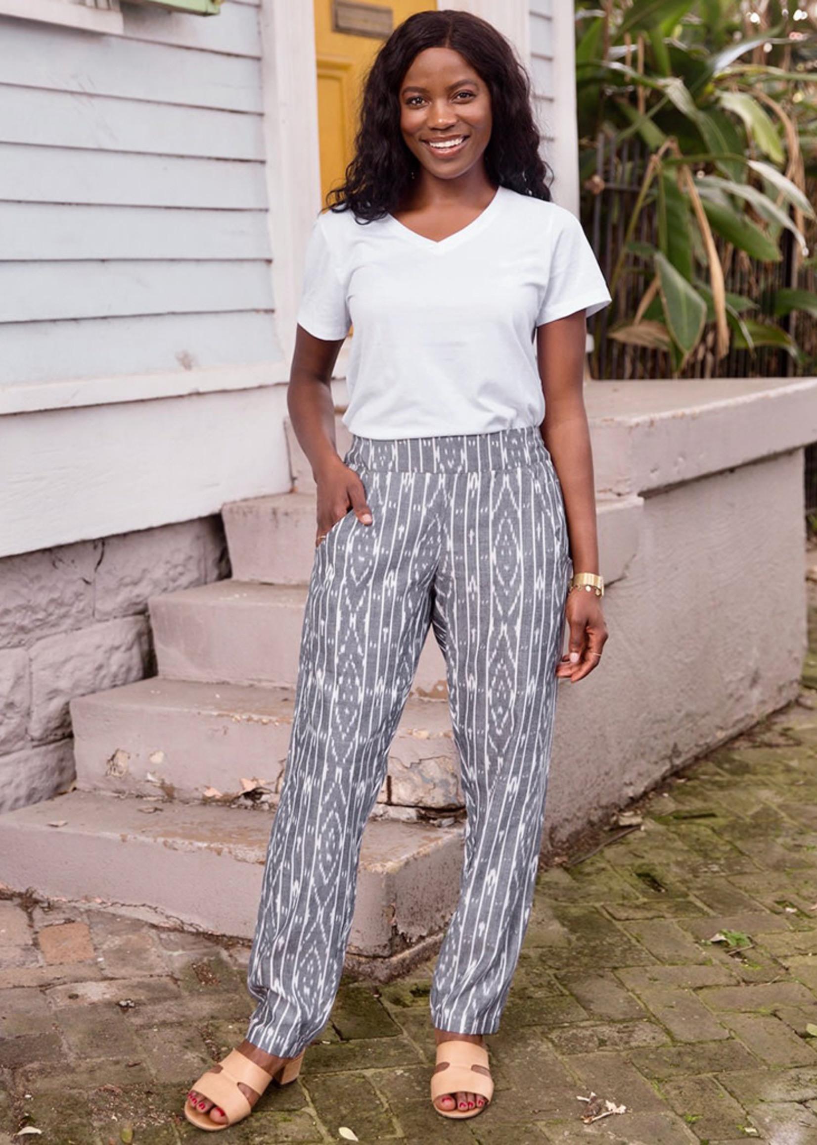 Passion Lilie Slate Stripe Pants