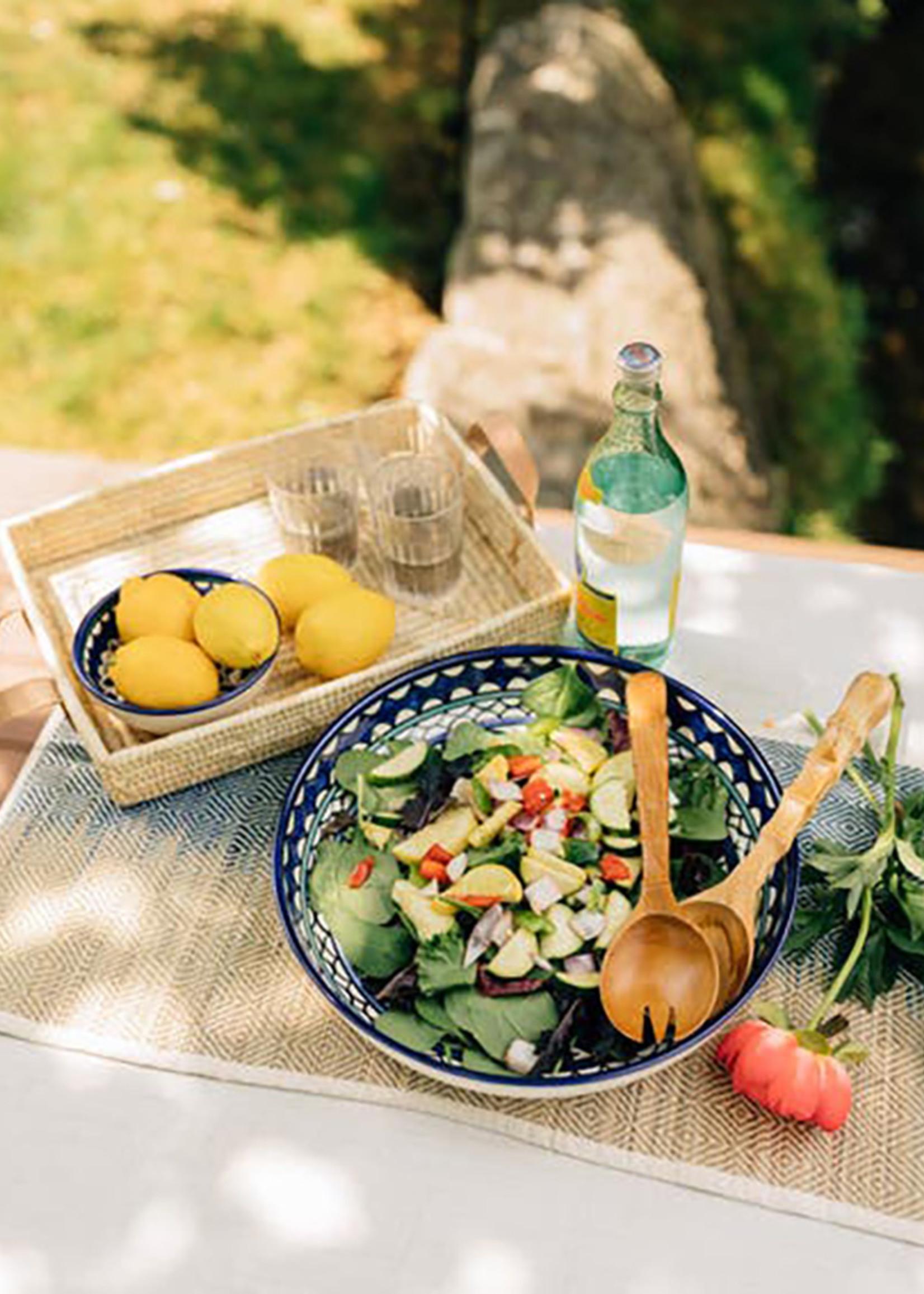 Sleek Teak Salad Servers