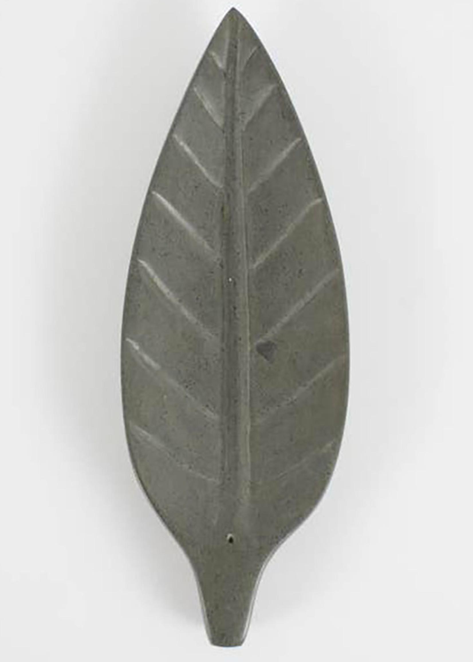 Stone Leaf Incense Holder