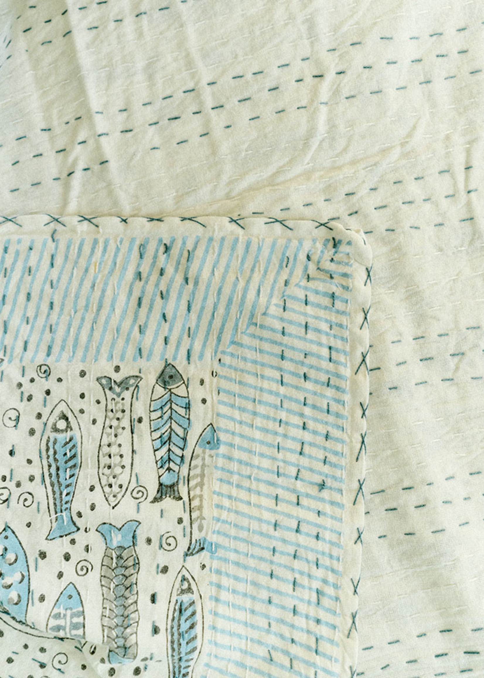 Fish Twin Size Quilt