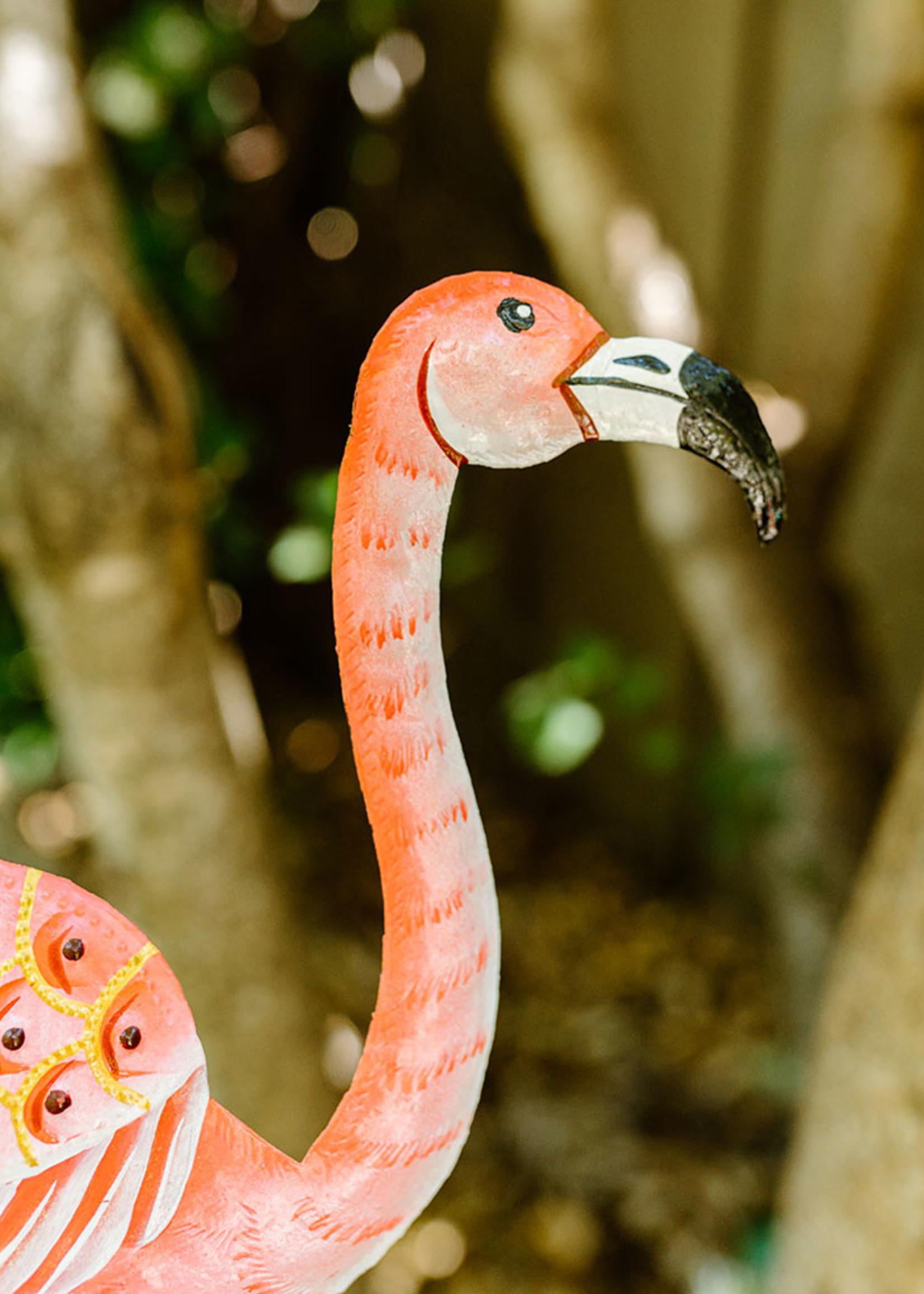 Pink Flamingo Garden Stake