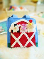 Global Goods Partners Felt Barnyard Puppet Bag