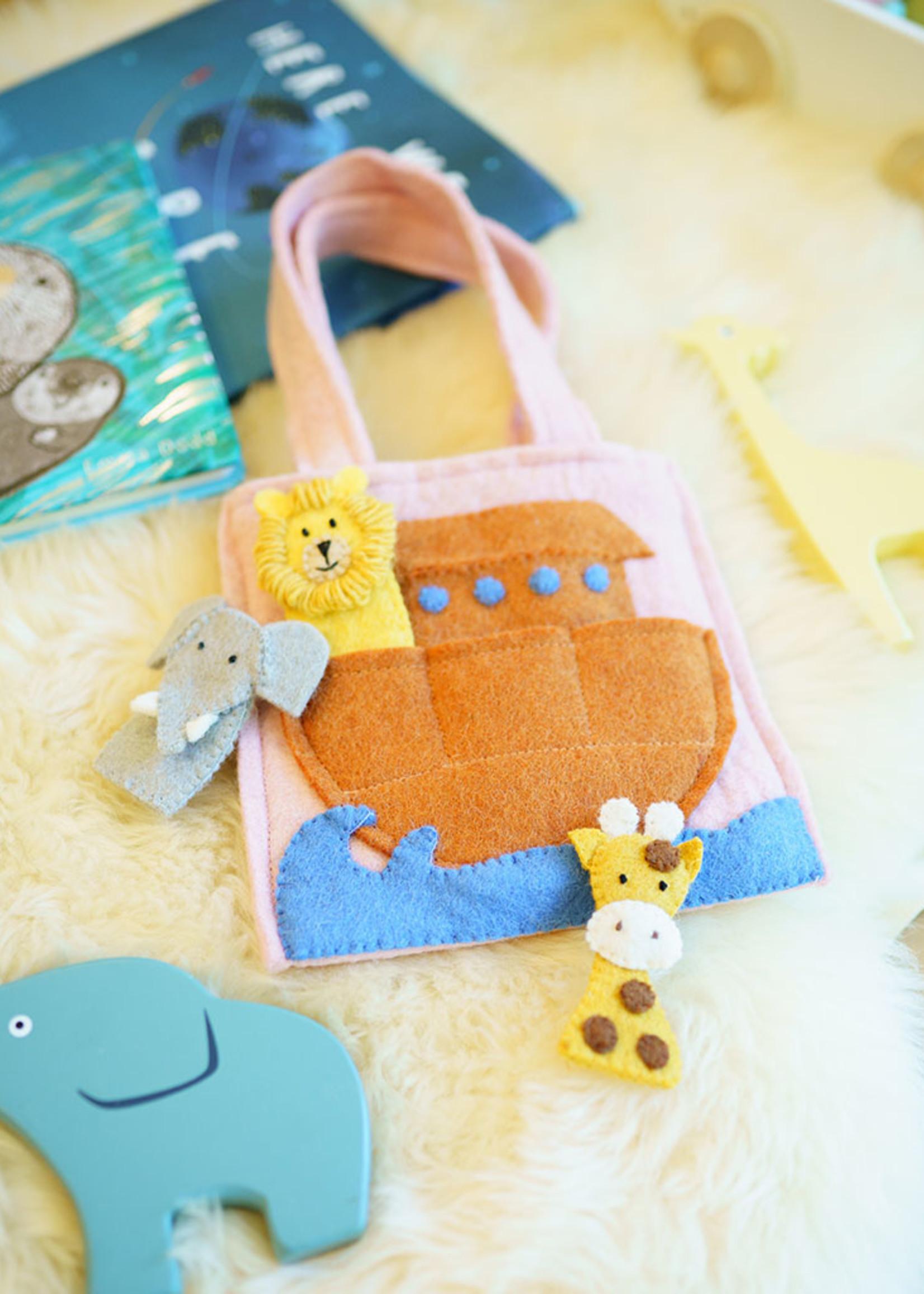 Global Goods Partners Felt Noah's Arc Puppet Bag
