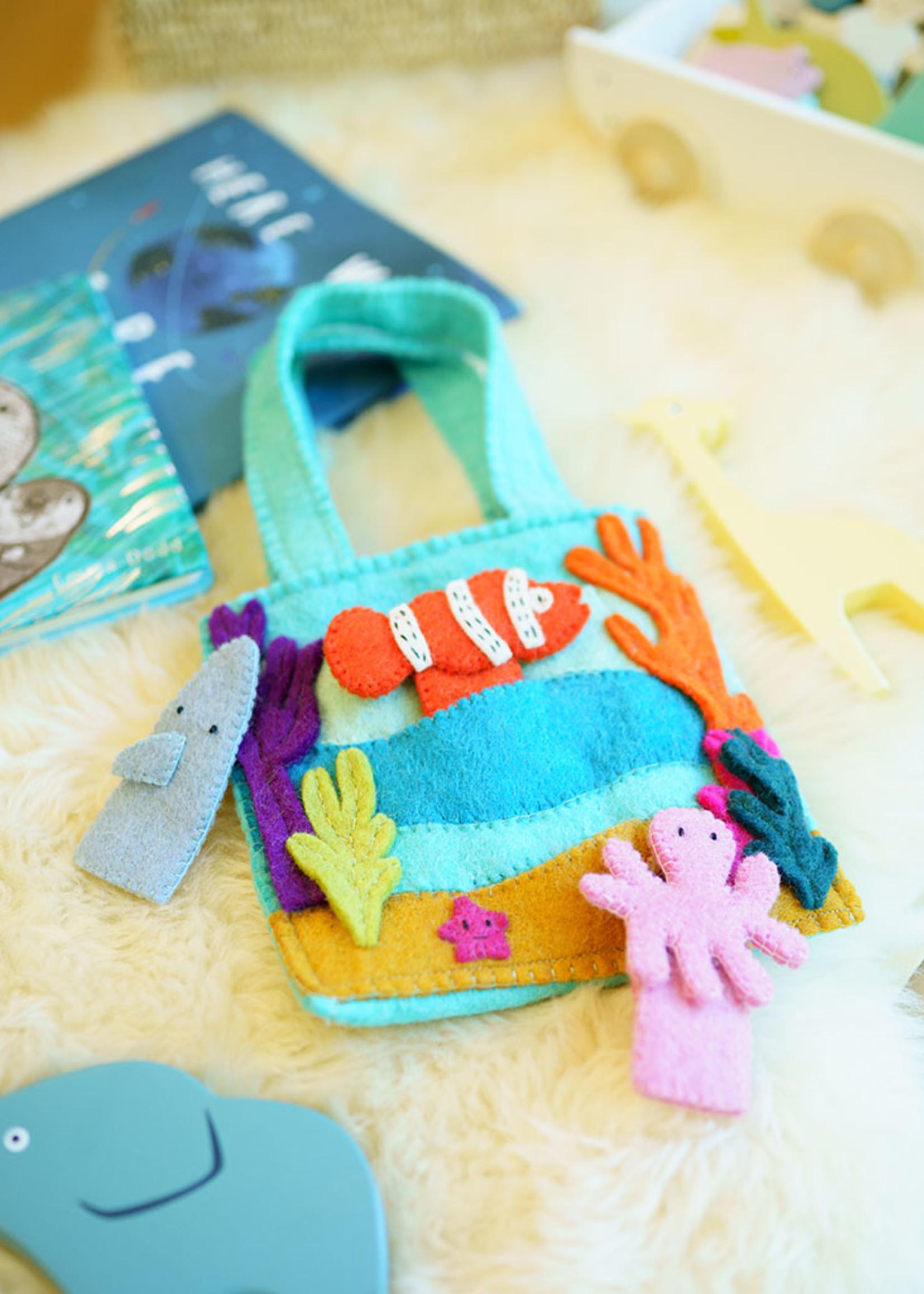 Global Goods Partners Felt Under the Sea Puppet Bag