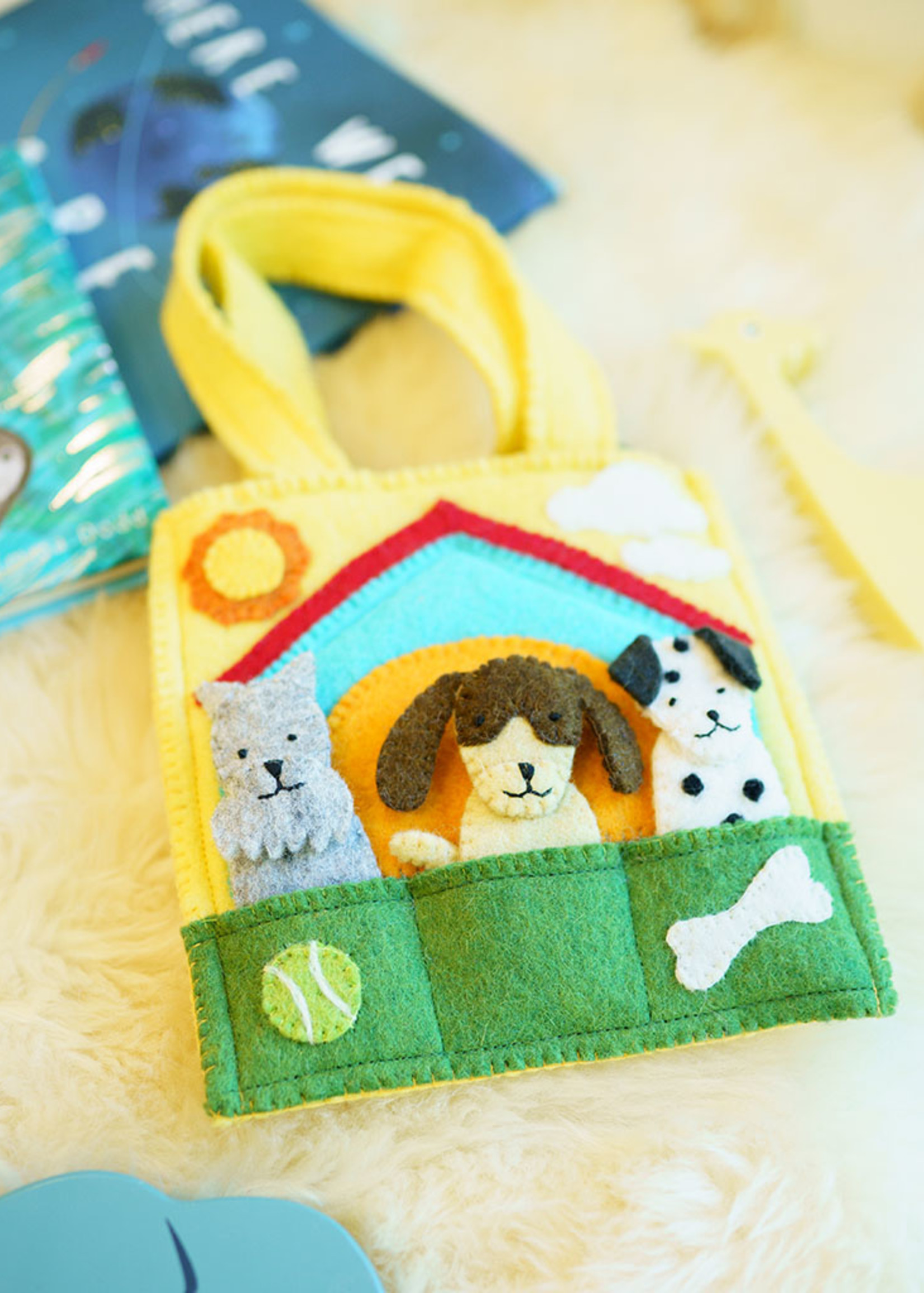 Global Goods Partners Felt Doggy Puppet Bag