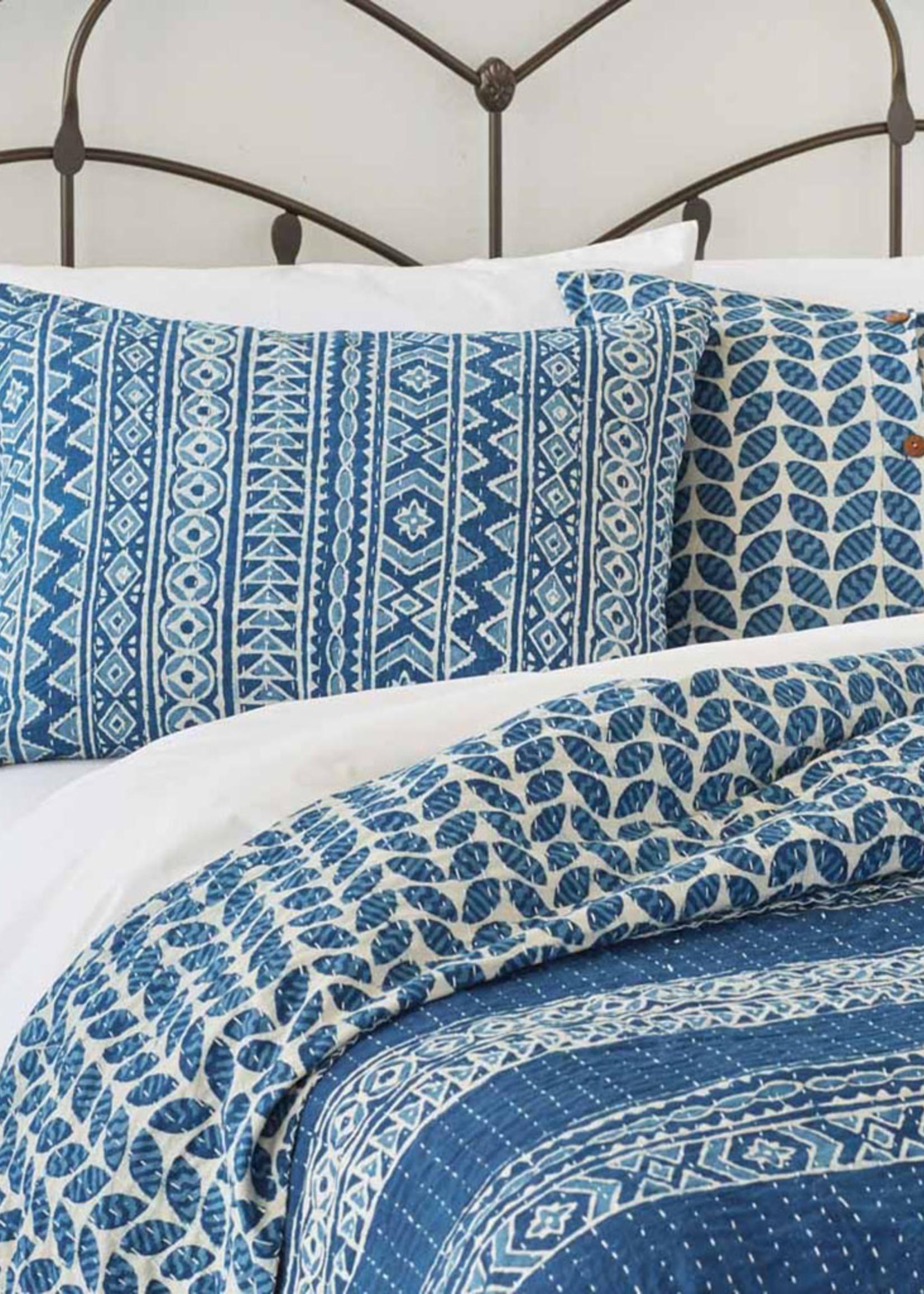 Geo Stripe Dabu Pillow Shams [Set of 2]