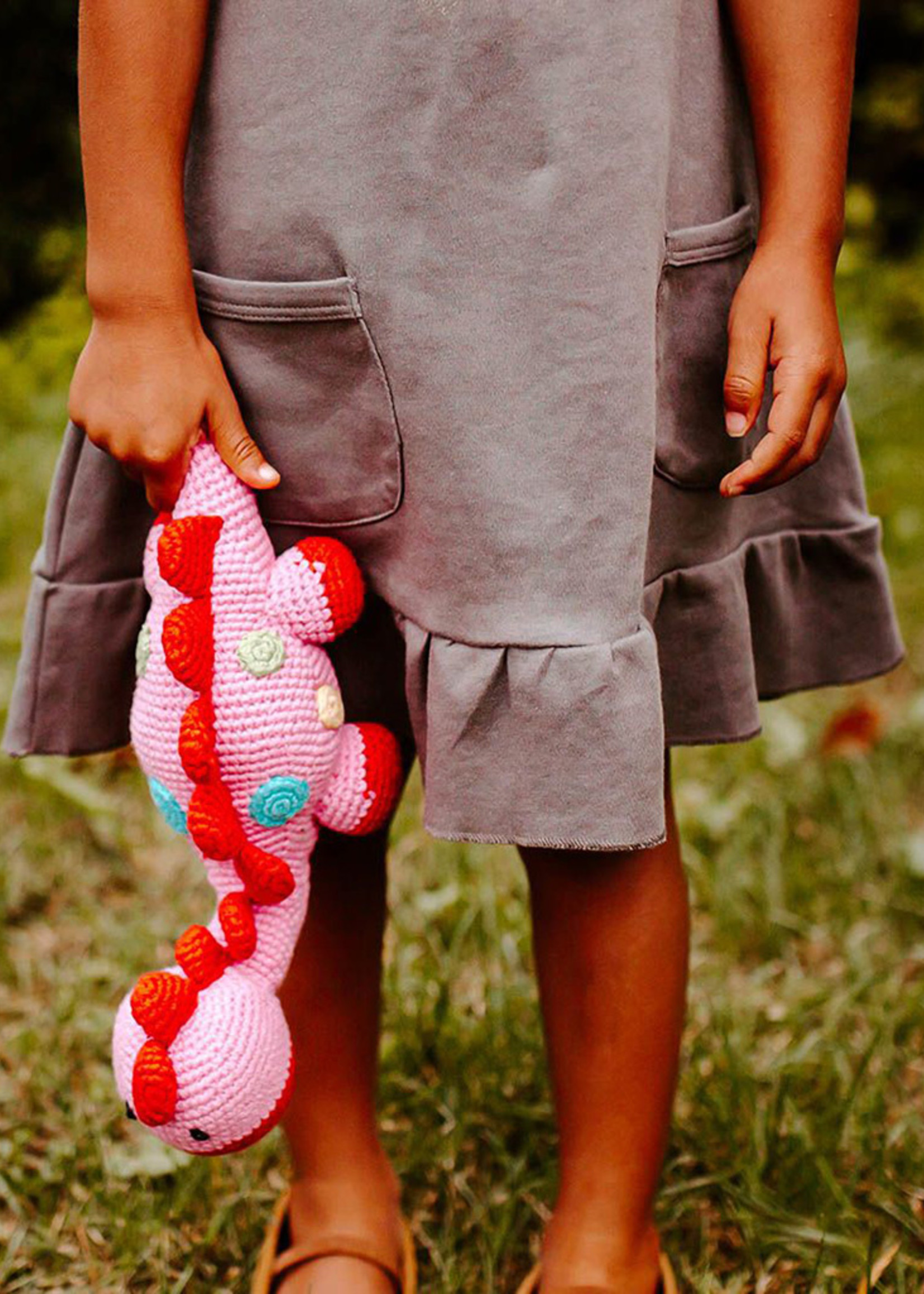 Pink Dino Steggy Rattle