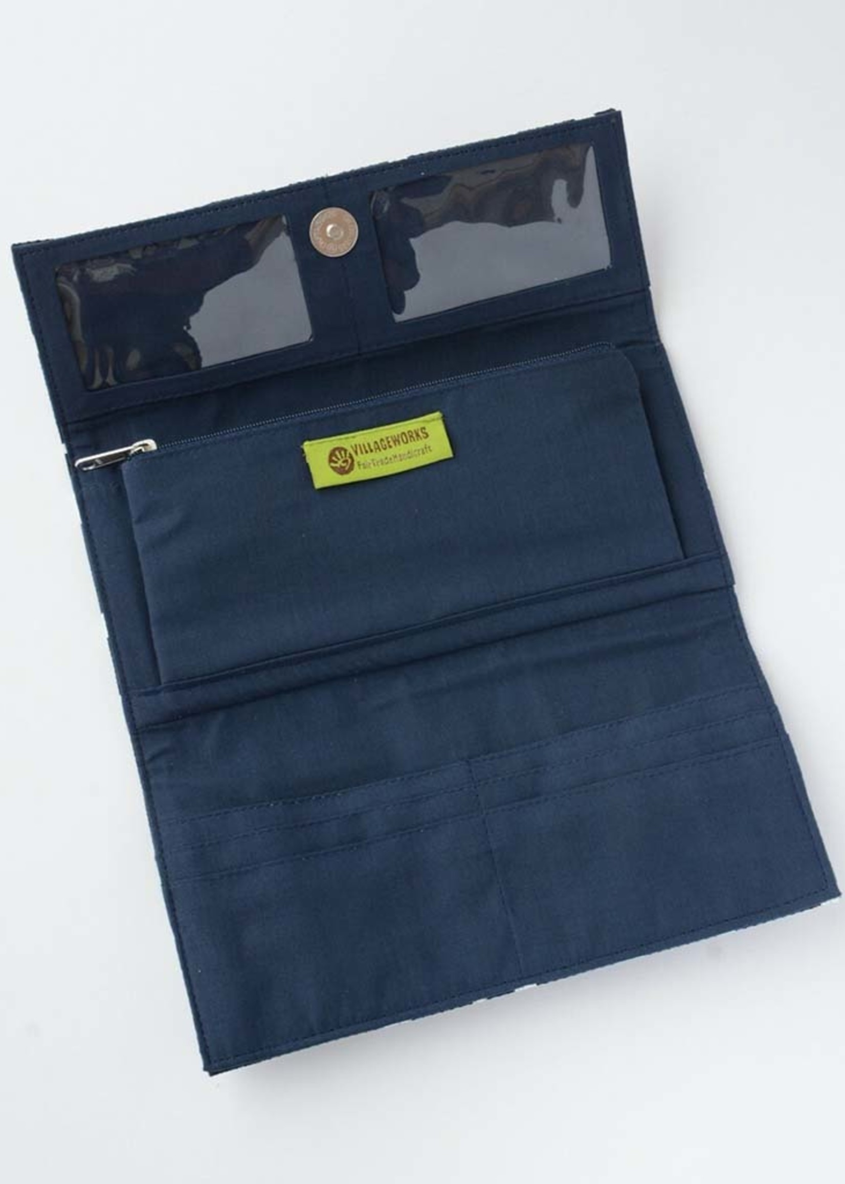 Dark Poppy Wallet Clutch