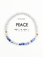 Morse Code PEACE Bracelet