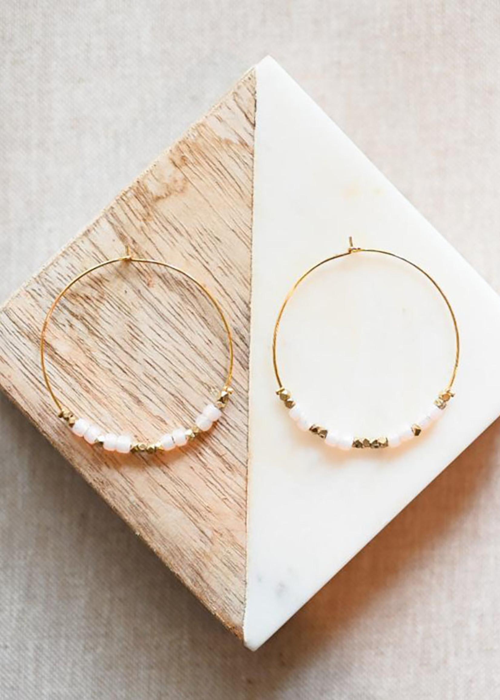 Morse Code FRIEND Earrings