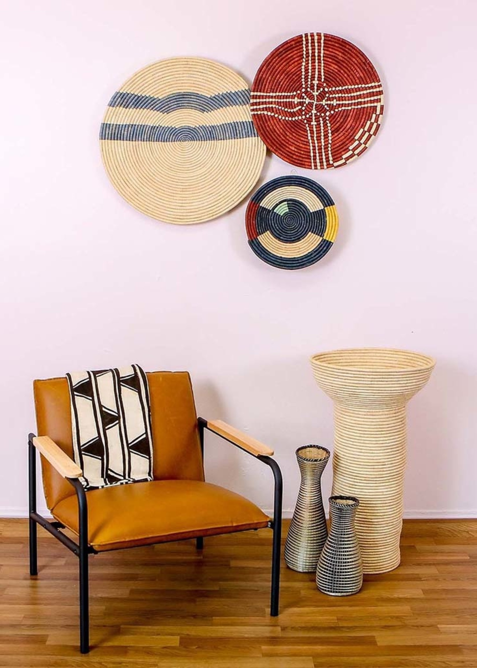 "Kazi 21"" Burgundy Sanaa Wall Plate"