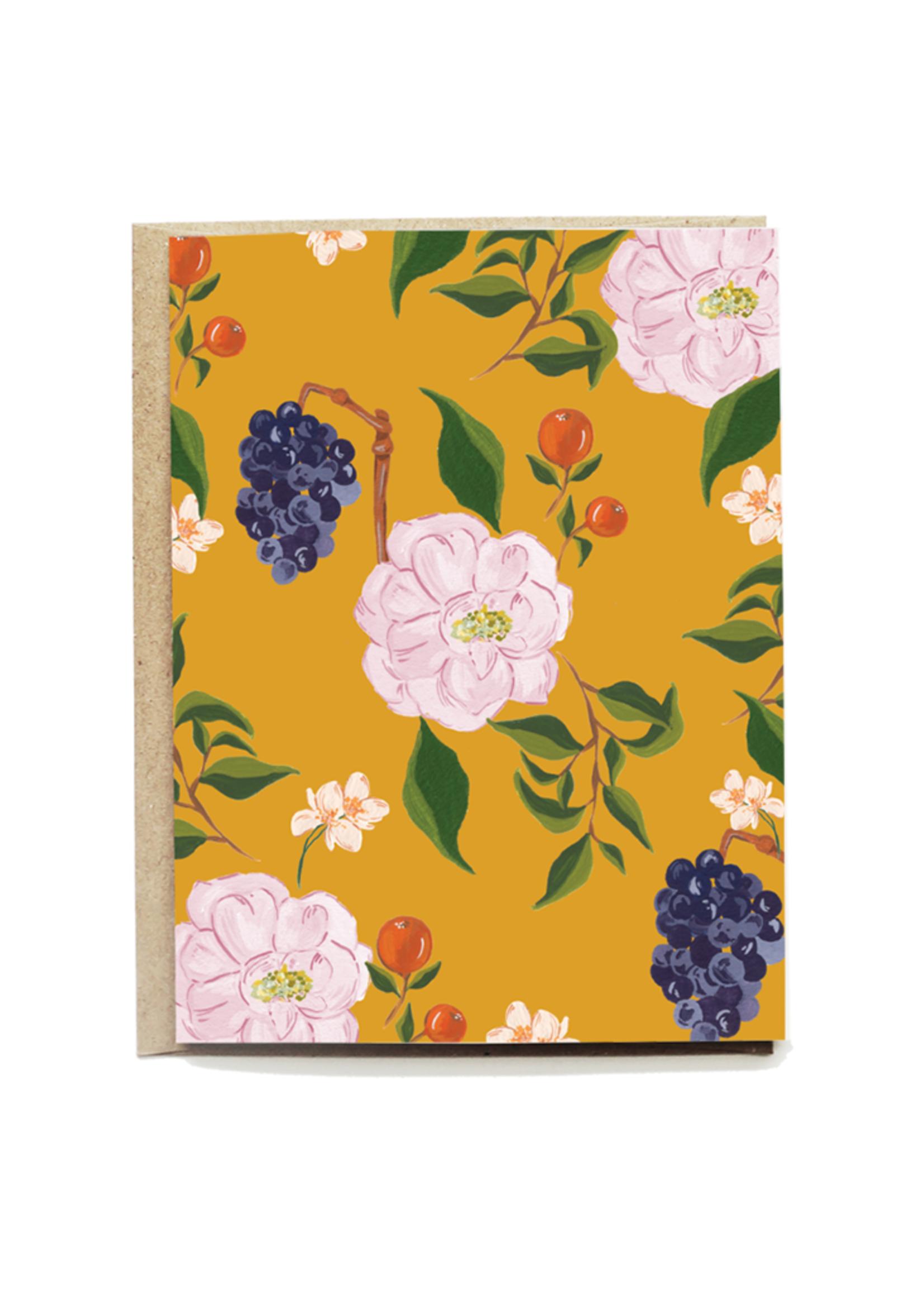 Jeanine Floral Blank Card