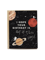 Outer Space Birthday Card
