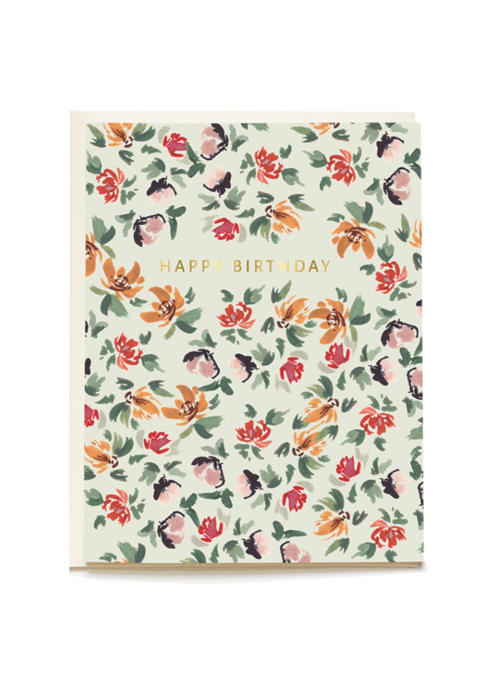 Sage Posy Birthday Card