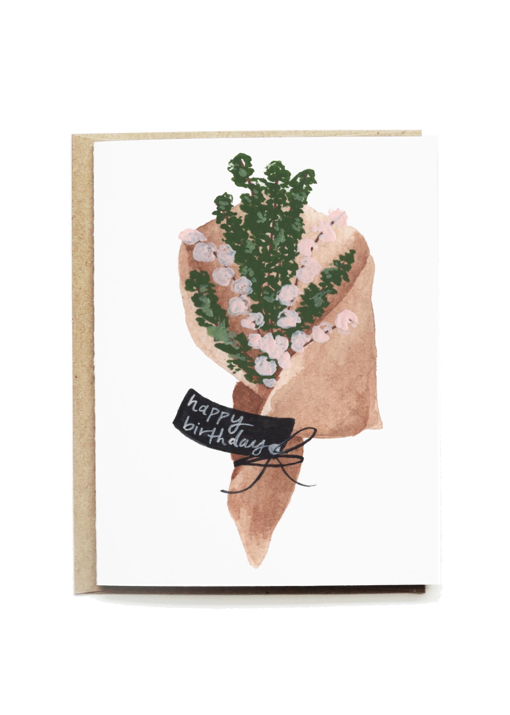 Rustic Bouquet Birthday Card