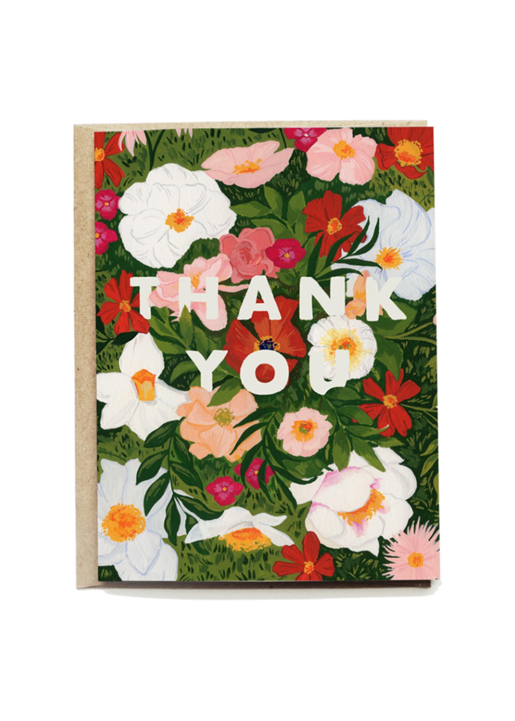 Lush Garden Thank You Card