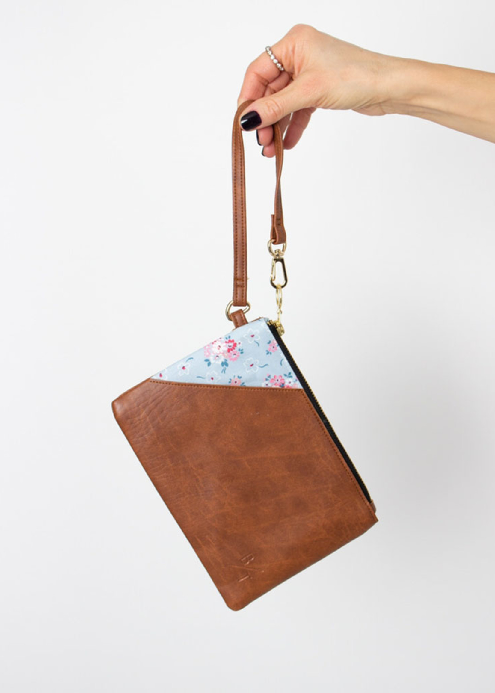 BYTAVI Brown Nary Lily Wristlet Bag