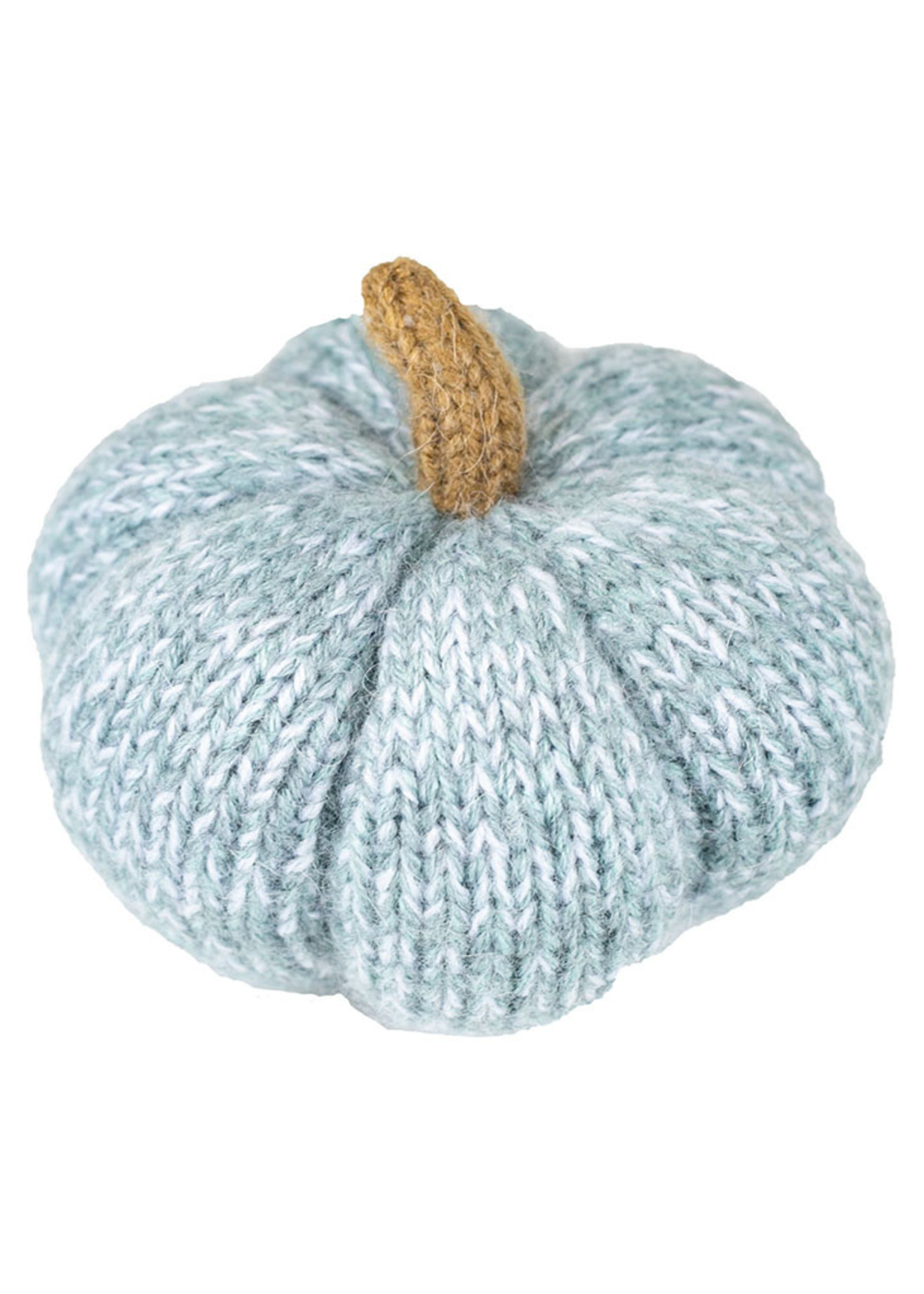 Blue Knit Pumpkin