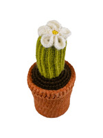 Knit Cactus Plant & White Flower