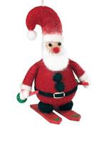 dZi Skiing Santa Ornament