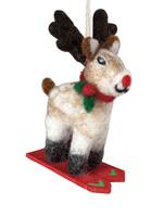 dZi Skiing Rudolph Jr Ornament