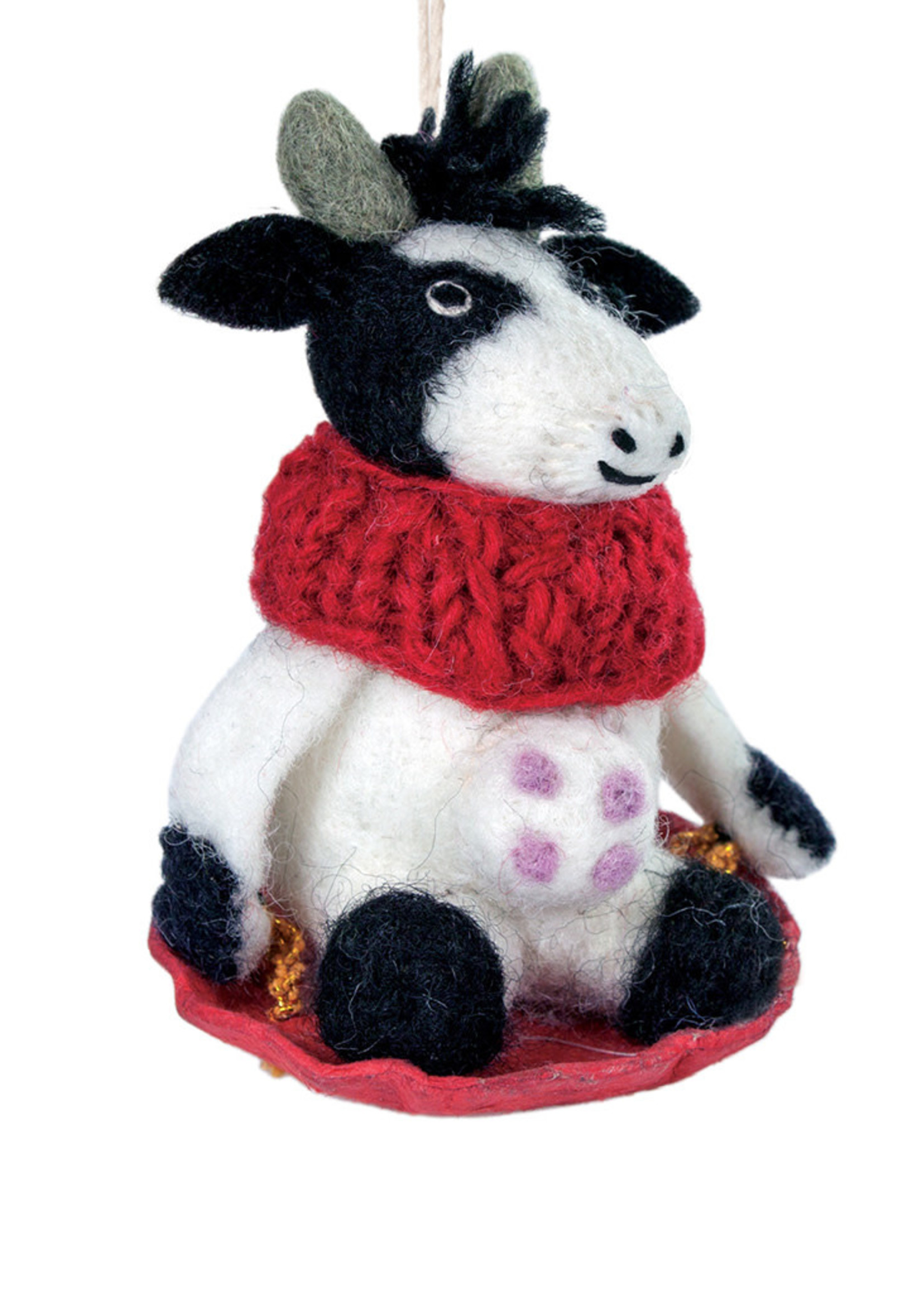dZi Bessie the Cow Ornament