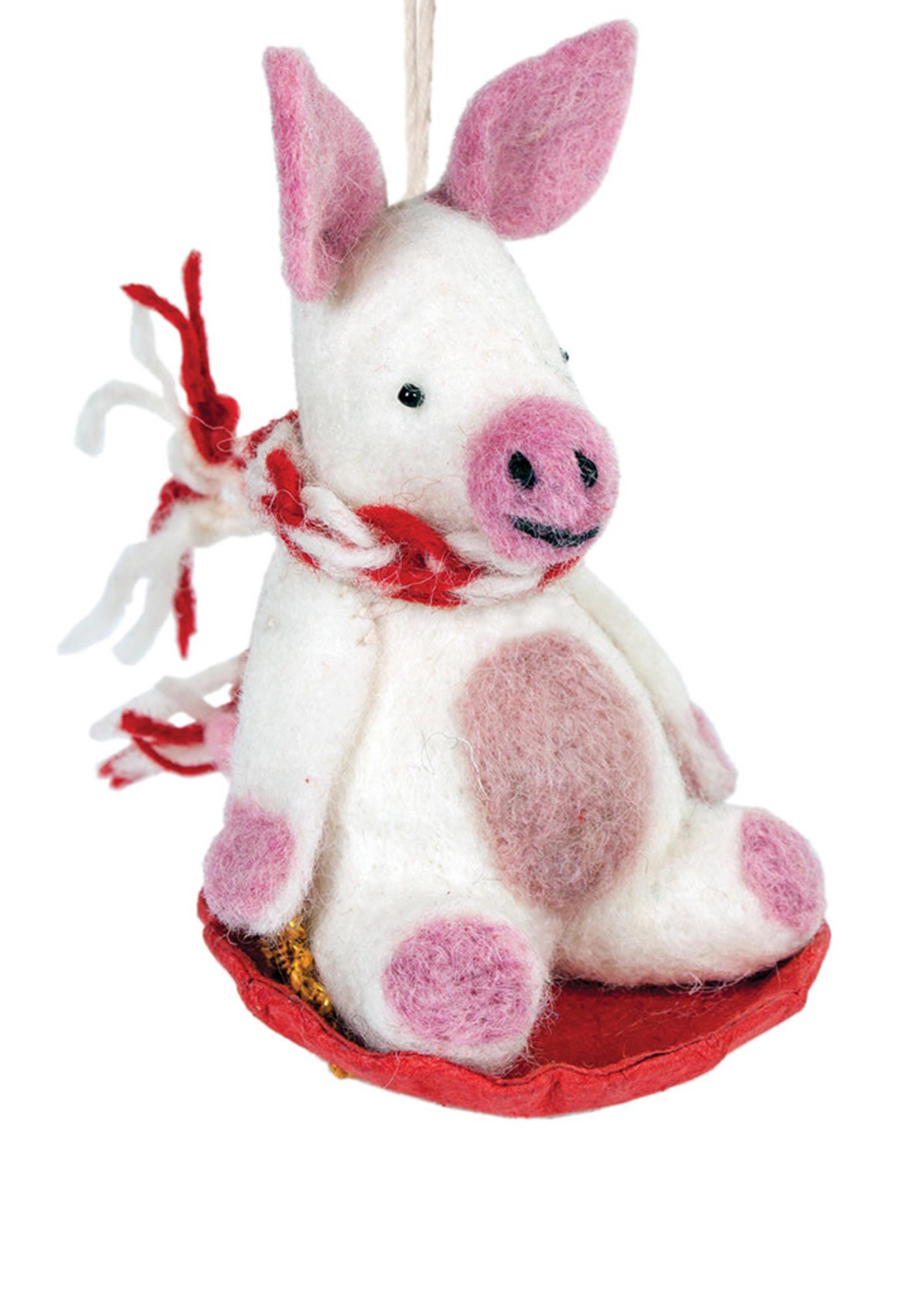 dZi Piggles the Pig Ornament