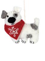 dZi Snowflake Patches the Dog Ornament