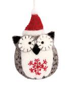 dZi Snowflake Holiday Owl Ornament