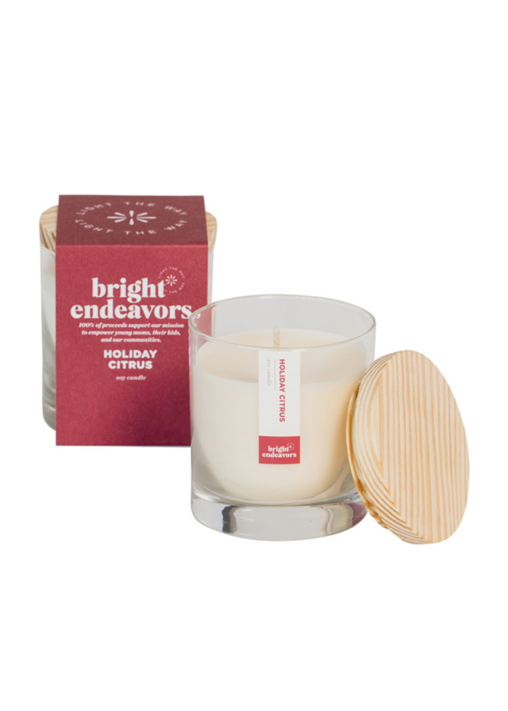 Bright Endeavors Holiday Citrus Soy Candle
