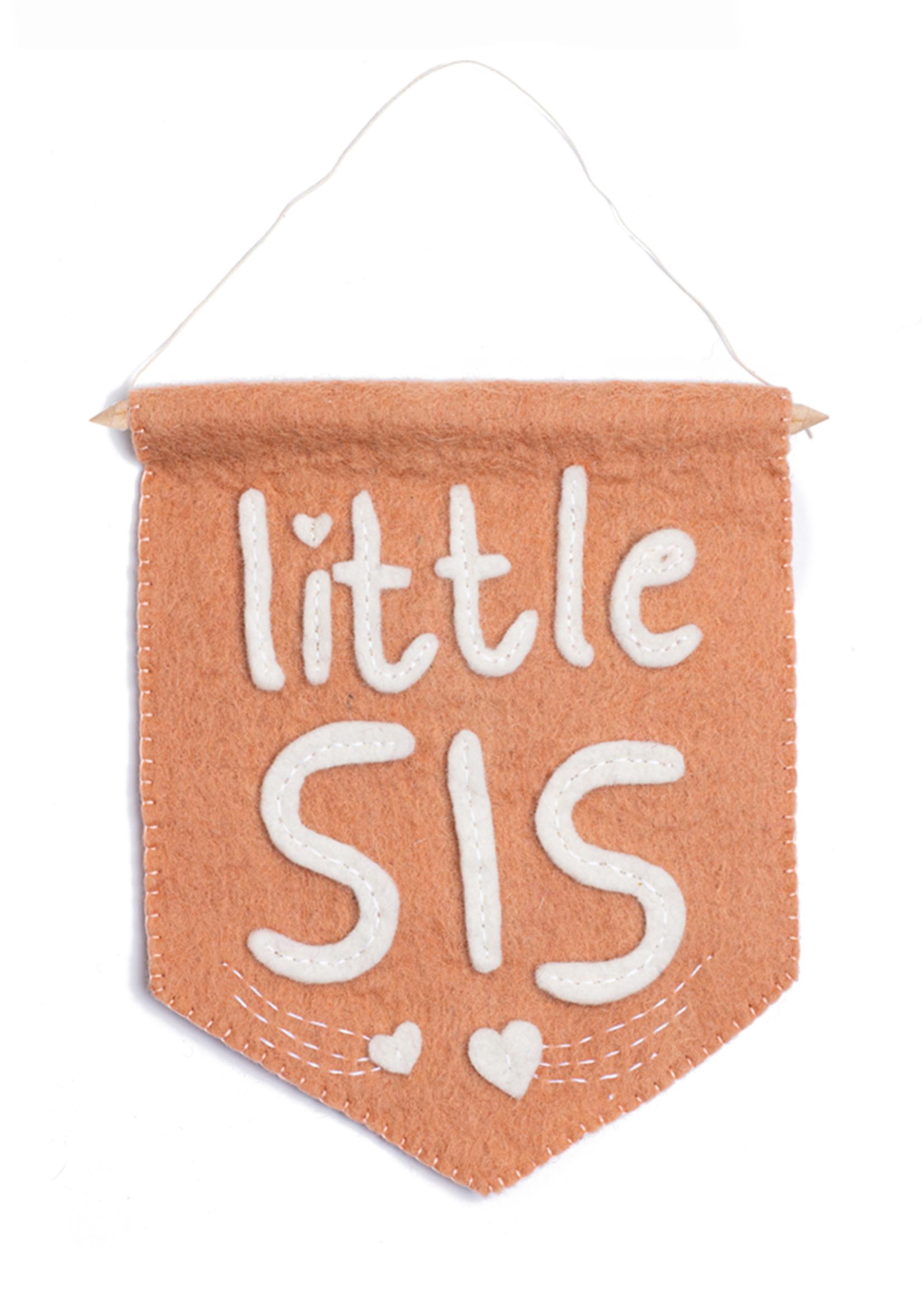 Global Goods Partners Little Sis Felt Flag Banner