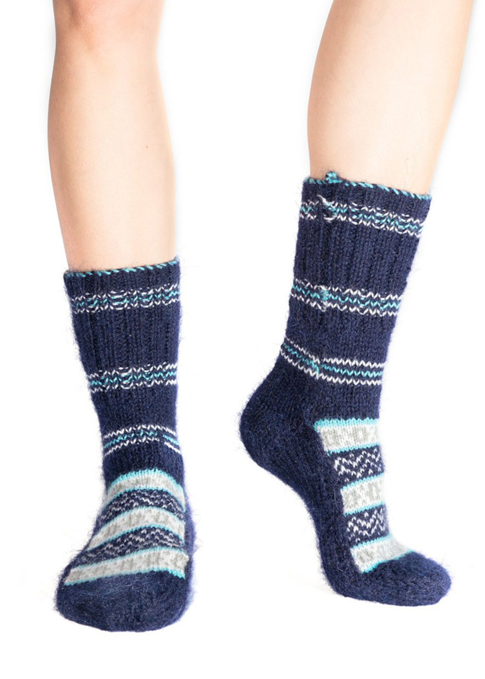 Tushar (Frost) Royal Blue Socks