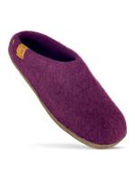 Baabushka Merlot Wool Slippers